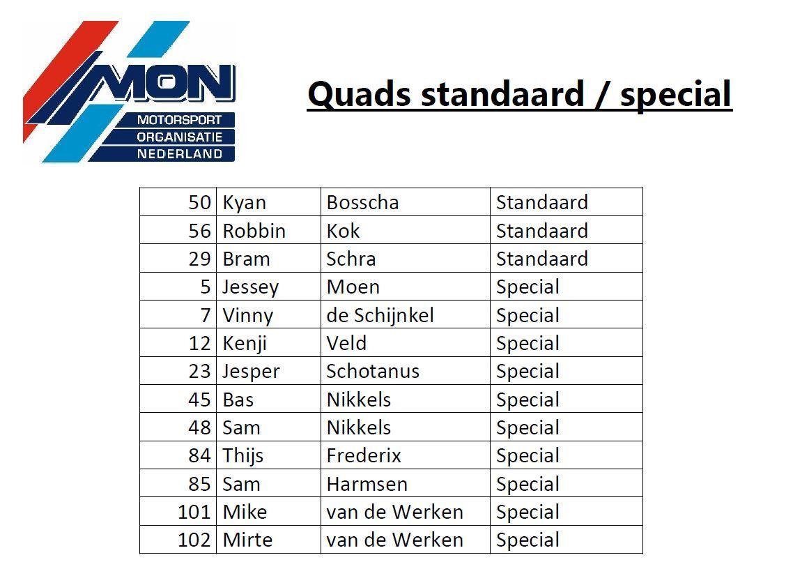 Quad-standaard-special